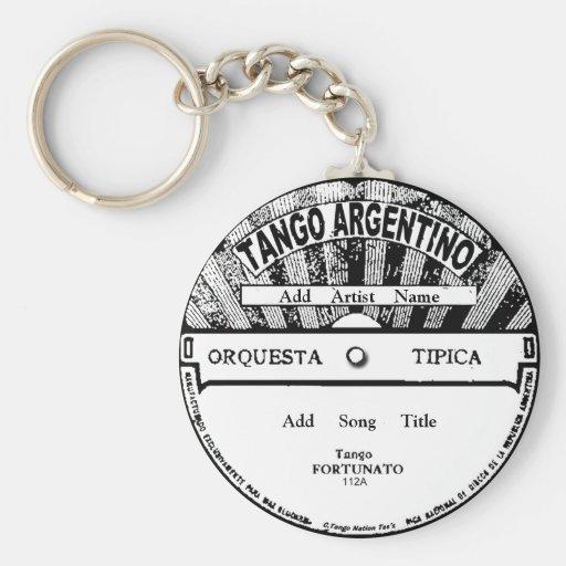 Tango Argentino Record Key Chain
