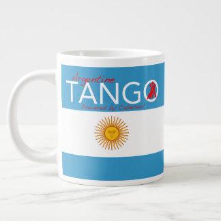 Tango, as in Life - A Tango Haiku (Cabeceo) Giant Coffee Mug