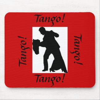 Tango! Ballroom Dance Couple Mousepad - Red