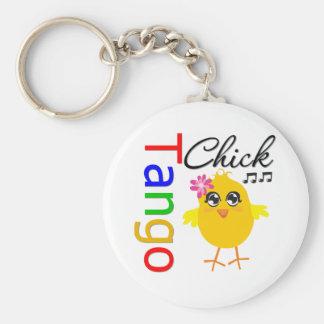 Tango Chick Basic Round Button Key Ring