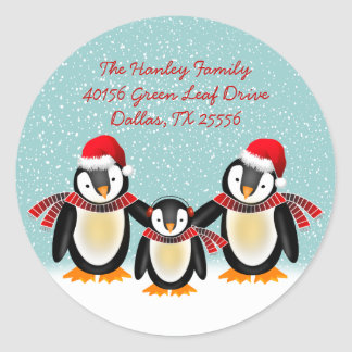 Tango Christmas Address Label