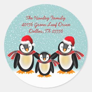 Tango Christmas Address Label Round Sticker