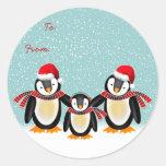 Tango Christmas Gift Tag Round Sticker
