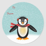 Tango Christmas Gift Tag Round Stickers