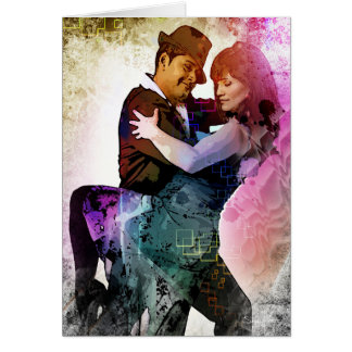 Tango Couple 'Elation in the Dance' Greeting Card