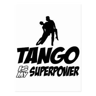 Tango dance designs postcard