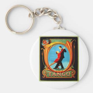 Tango Dancer Basic Round Button Key Ring