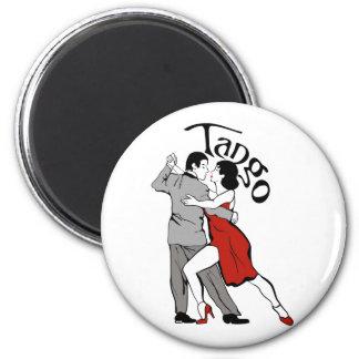 Tango Dancers 6 Cm Round Magnet