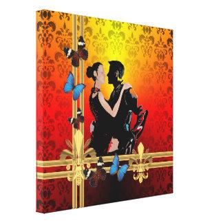 Tango dancers gallery wrap canvas