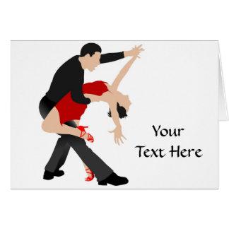 Tango Dancers (customized) Card