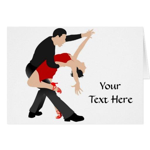 Tango Dancers (customized) Greeting Card
