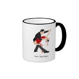 Tango Dancers (customized) Ringer Mug