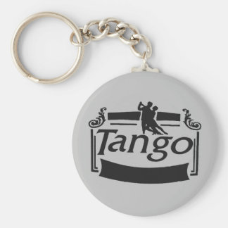 Tango dancers design! basic round button key ring