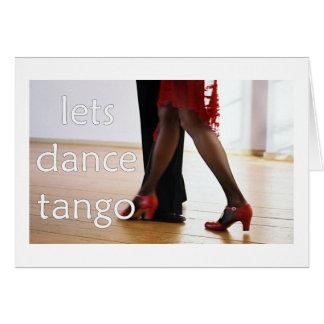 Tango Dancers Greeting Card