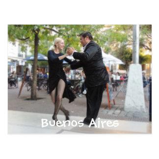 Tango Dancers in Plaza Dorrego Post Cards