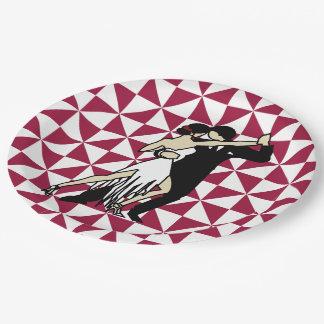 Tango Dancers Paper Plate