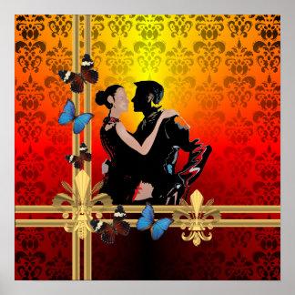 Tango dancers print