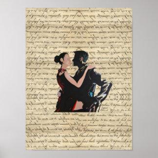 Tango dancers posters