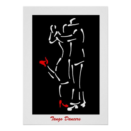 Tango! Dancers (Red Shoes) design Poster