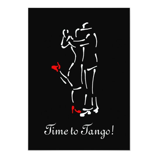 Tango Dancers (Red Shoes) with Customisable Text Card
