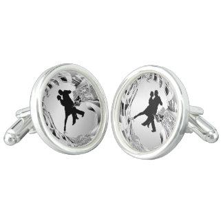 Tango Dancers Silhouette Cufflinks