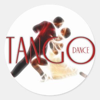 Tango Dances red Round Sticker