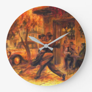 Tango in Buenos Aires Large Clock