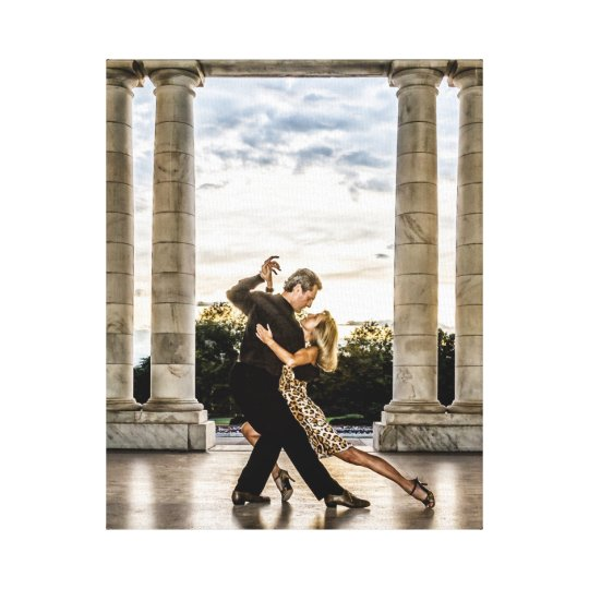 Tango in the Park Canvas Print