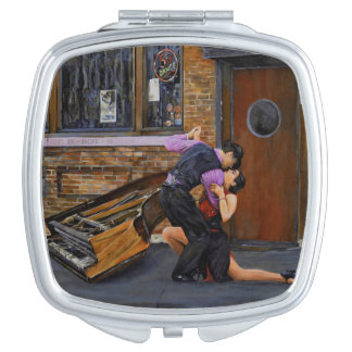 Tango in the Street Painting Compact Mirror