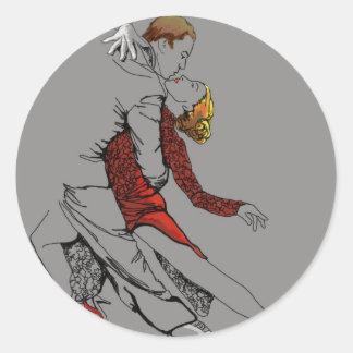 Tango Intimacy Classic Round Sticker
