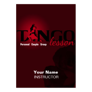 Tango Lesson - Business-, Schedule-, Profile Card Pack Of Chubby Business Cards