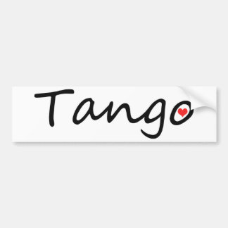 Tango lover original design! bumper sticker