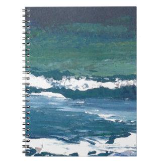 Tango of the Sea Ocean Waves Beach Decor Note Books