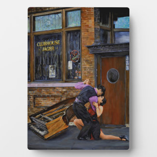 Tango on the Streeet Tabletop Plaque with Easel