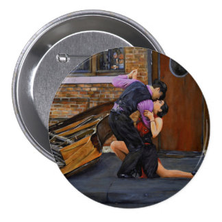 Tango on the Street by Steve Berger 3 inch Button