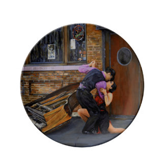 Tango on the Street Collectible Porcelain Plate