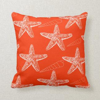 Tango Orange Seashell Pillow