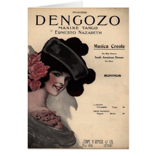 Tango Sheet Music Cards