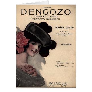 Tango Sheet Music Greeting Card