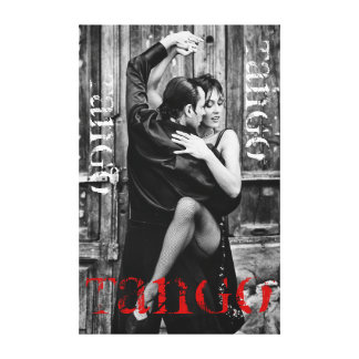 TangoDancing Couple Gallery Wrapped Canvas
