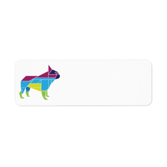 Tangram Frenchie, Multicolored