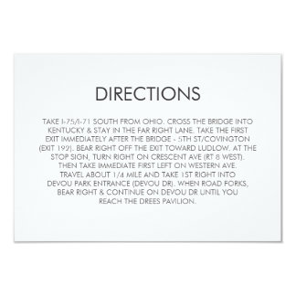 Tangram Heart Wedding Directions Card