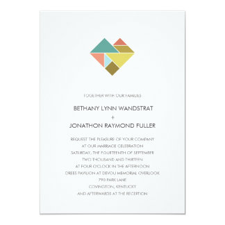 Tangram Heart Wedding Invitation