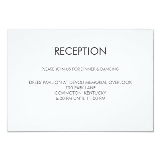 Tangram Heart Wedding Reception Card