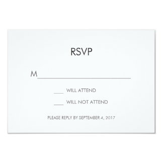 Tangram Heart Wedding RSVP Card