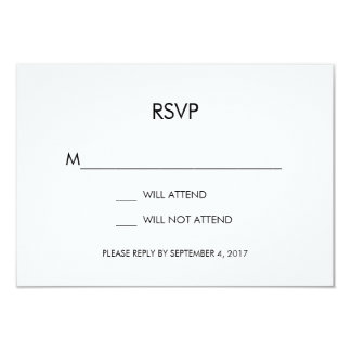 Tangram Heart Wedding RSVP Card Black Gold Silver