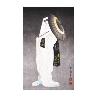 Taniguchi Kokyo Spirit of the Heron Maiden Canvas Print