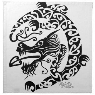 Taniwha Dragon Napkin