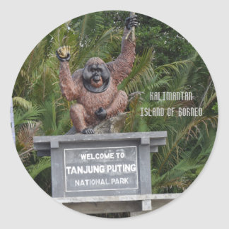 Tanjung Puting National Park Borneo Round Sticker