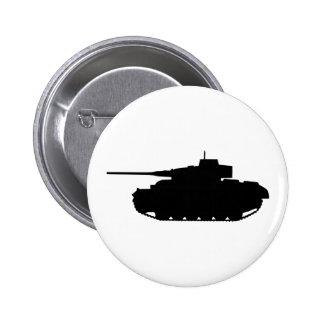 Tank 6 Cm Round Badge